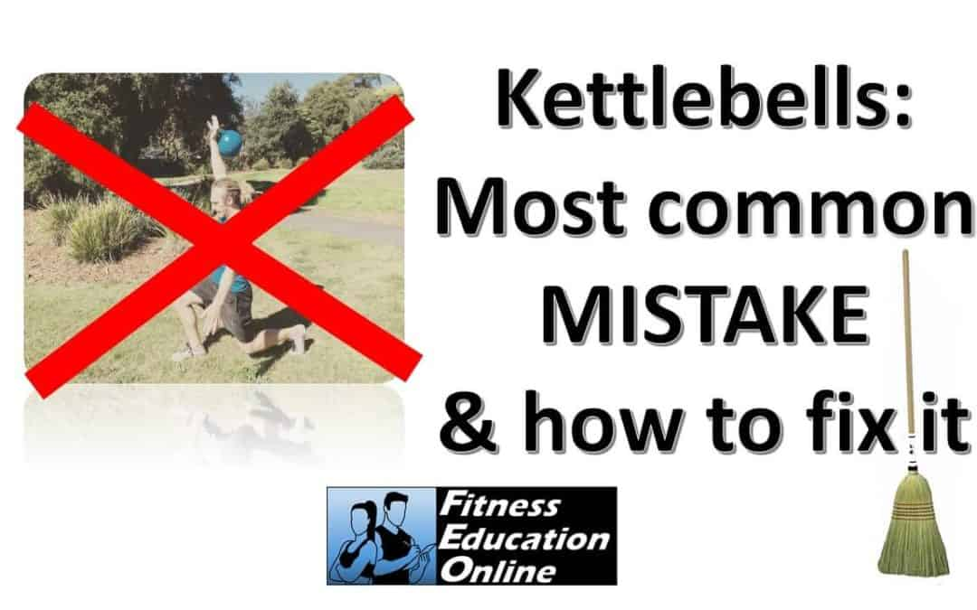 How to use a Broomstick to fix Kettlebell most common mistake