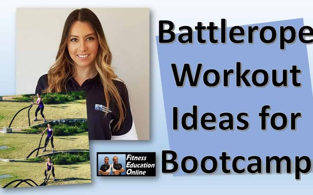 Battlerope Workout ideas for Bootcamps