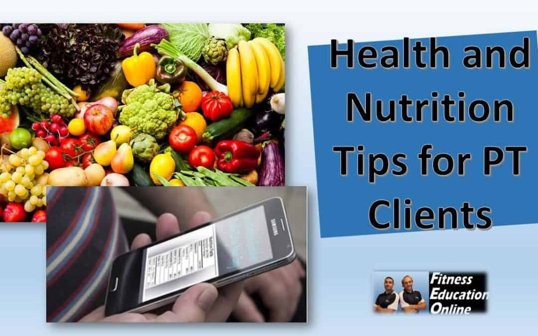 Nutrition Tips for Personal Trainers' Clients