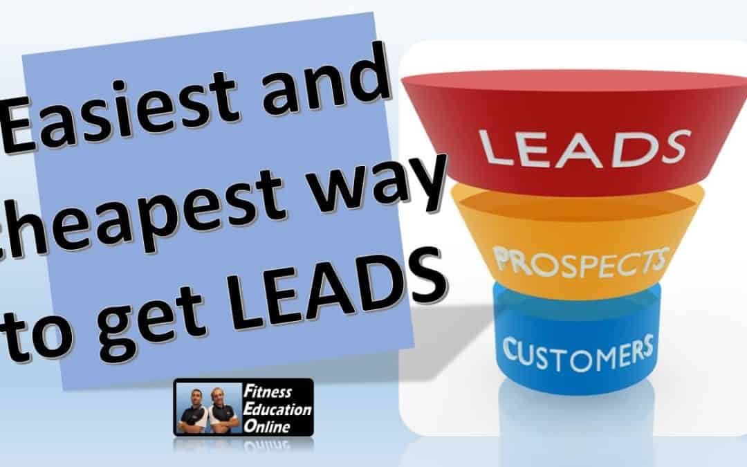 The easiest (and cheapest) way to get leads!