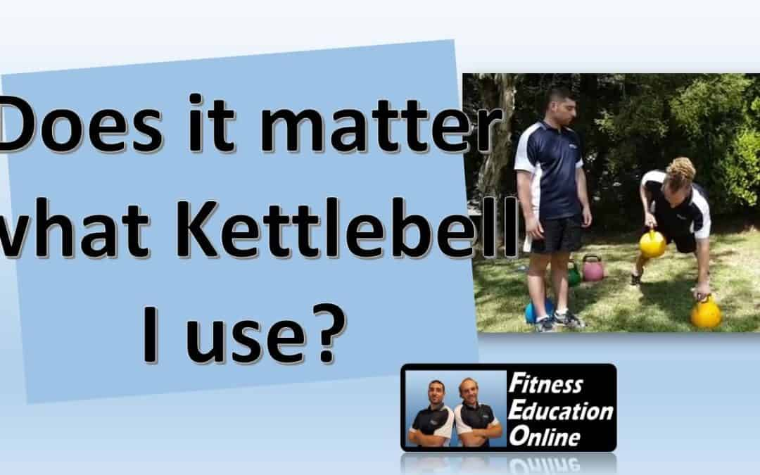 Does it matter what Kettlebell I use?