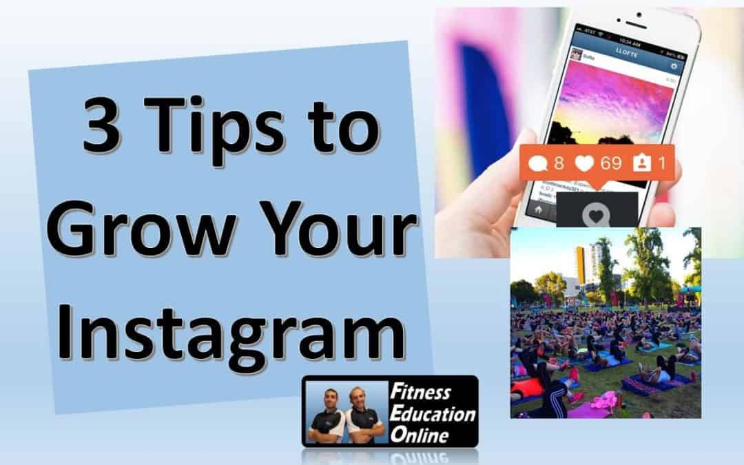 3 Tips to Grow Your Instagram