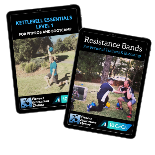 Kettlebell Level 1 +Resistance Bands Package (20CECs)