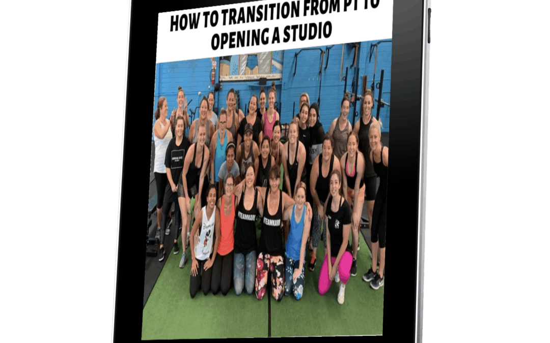 Business of Running a Studio: How to Transition from PT to Studio Owner (9CECs)